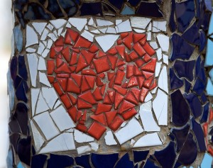 broken heart mosaic